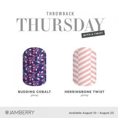 #TBT Budding Cobalt & Herringbone Twist.