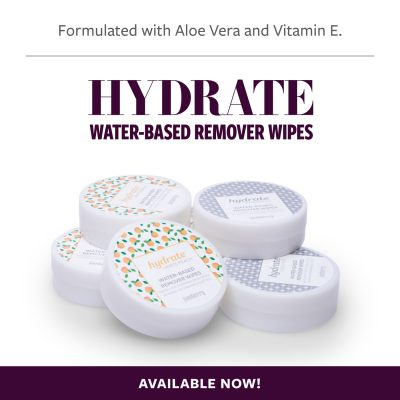 Hydrate Water-Based Remover Wipes