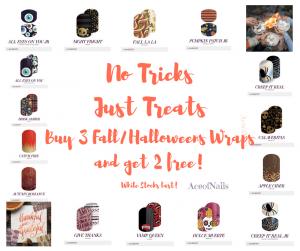 'No Tricks Just Treats'- Buy 3 Get 2 Free - Halloween Promo