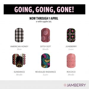 Jamberry Nails Wraps 2018 - Going Going Gone