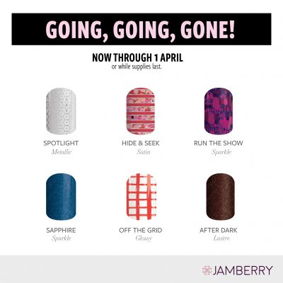 Jamberry Nails Wraps 2018 – Going Going Gone