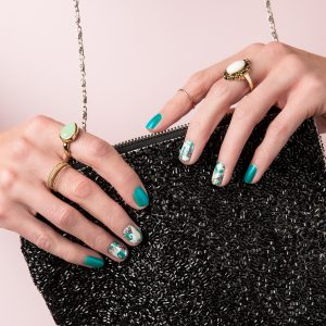 March 2018 - Colour Pop - Electric Teal - Gel Nails at Home